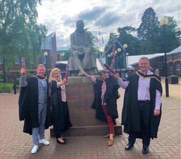 MBA program of Edinburgh Business School Graduates in Edinburgh